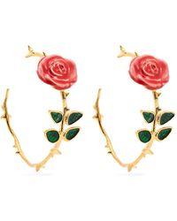 Aurelie Bidermann - Rose Hoop Earrings - Lyst