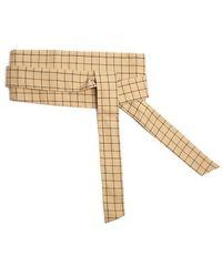 Awake - Checked Cotton Wraparound Belt - Lyst