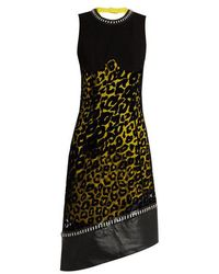 Mugler - Leopard-print Tulle And Crepe Dress - Lyst