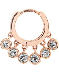 Jacquie Aiche | Diamond & Rose-gold Earring | Lyst