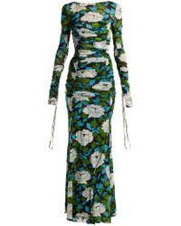 Diane von Furstenberg - Boswell Floral-print Ruched Gown - Lyst