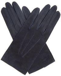 Bottega Veneta | Top-stitched Suede Gloves | Lyst
