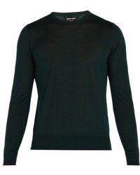 Giorgio Armani - Fine-knit Wool Jumper - Lyst