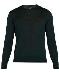Giorgio Armani - Fine-knit Wool Sweater - Lyst