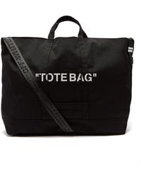 Off-White c/o Virgil Abloh - Quote Canvas Tote Bag - Lyst