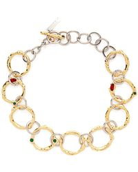 Marni - Crystal Embellished Chain Link Necklace - Lyst