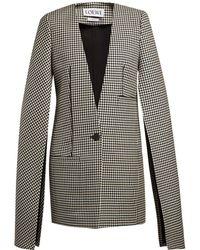 Loewe - Slit-sleeve Houndstooth Wool Coat - Lyst