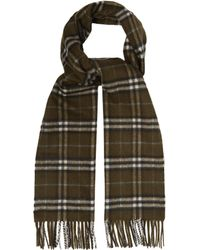 Burberry - Vintage Check Cashmere Scarf - Lyst