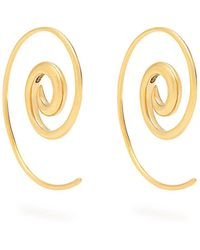 Noor Fares - Spiral Yellow Gold Earrings - Lyst