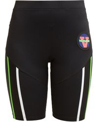 Versace - Logo Patch Technical Cycling Shorts - Lyst