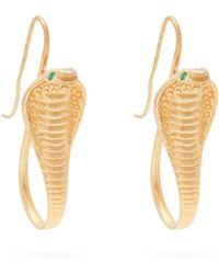 Jade Jagger - 18kt Gold & Emerald Cobra Earrings - Lyst
