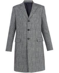 Acne Studios - Mavin Prince Of Wales-checked Linen-blend Coat - Lyst