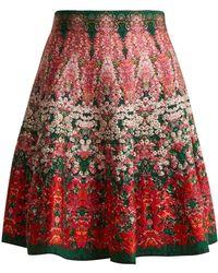 Alexander McQueen - Flowerbed Jacquard-knit Mini Skirt - Lyst