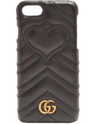 Gucci - Gg Marmont Quilted-leather Iphone® 7 Case - Lyst