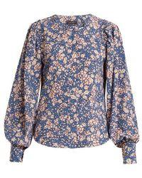 Isabel Marant - Berny Floral-print Silk-blend Blouse - Lyst