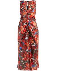 Marni - Duncraig Print Floral Print Coated Cotton Dress - Lyst