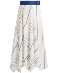 Loewe | Striped Cotton-blend Midi Skirt | Lyst