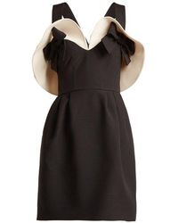 Valentino - Bow-detailed Wool And Silk-blend Dress - Lyst