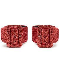 Attico - Glitter-embellished Ankle Straps - Lyst