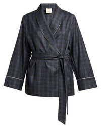 Morpho + Luna - Amelie Checked Wool Robe - Lyst
