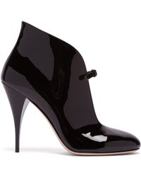 Miu Miu - Patent-leather Ankle Boots - Lyst