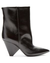 Saint Laurent - Niki Leather Ankle Boots - Lyst