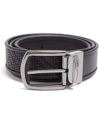 Ermenegildo Zegna - Reversible Woven Leather Belt - Lyst