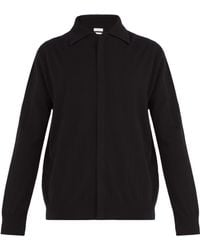 Deveaux - Point Collar Cashmere Cardigan - Lyst