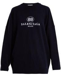 Balenciaga - Embroidery Sweatshirt - Lyst