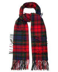Burberry - Tartan-checked Wool Blend Scarf - Lyst