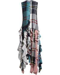 J.W.Anderson - Ruffled-hem Patchwork Dress - Lyst