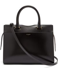 Saint Laurent - Uptown Leather Tote - Lyst