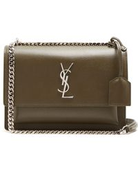 Saint Laurent - Sunset Medium Leather Cross Body Bag - Lyst a1318d604b4b4