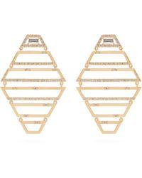 Susan Foster - Diamond & Yellow Gold Earrings - Lyst