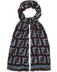 Fendi - Ff Logo Print Scarf - Lyst