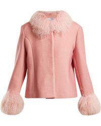 Saks Potts | Dorthe Fur-trimmed Wool Jacket | Lyst