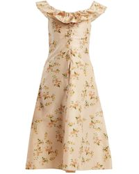 Brock Collection - Dawn Off-the-shoulder Silk-taffeta Dress - Lyst