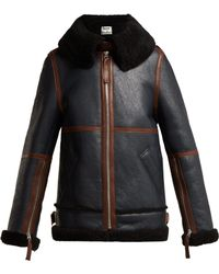 Acne Studios - Panelled Shearling Jacket - Lyst