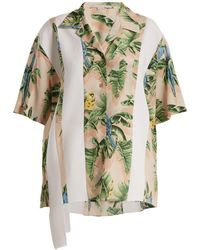 Stella McCartney - Parrot-print Silk Crepe De Chine Shirt - Lyst