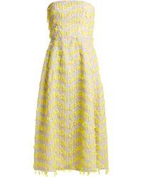Carolina Herrera - Embroidered Semi-sheer Organza Dress - Lyst