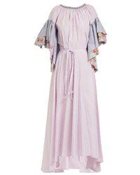 Natasha Zinko - Ruffle-sleeve Cotton Dress - Lyst