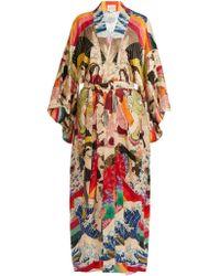 Chufy - Trippin Printed Kimono - Lyst