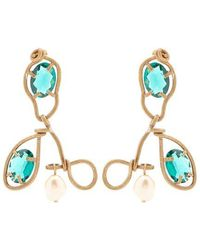 Marni - Crystal-embellished And Resin Drop Earrings - Lyst
