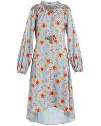 Dodo Bar Or - Marisa Floral Print Crystal Embellished Dress - Lyst