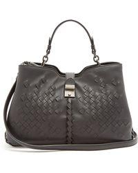 Bottega Veneta - Napoli Medium Intrecciato Leather Bag - Lyst