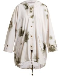 MYAR - Oversized Brushstroke Print Cotton Hooded Jacket - Lyst