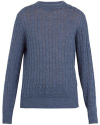 Brunello Cucinelli - Cable-knit Linen-blend Sweater - Lyst