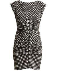 Rachel Comey - Flatlanders Ruched Gingham Mini Dress - Lyst