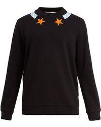 Givenchy - Cuban-fit Star-appliqué Cotton Sweatshirt - Lyst
