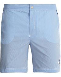 Robinson Les Bains - Oxford Long Striped Swim Shorts - Lyst